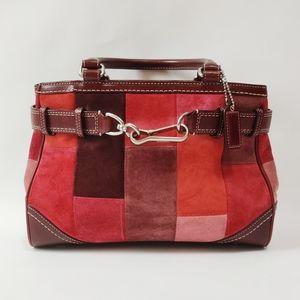 Coach Suede Collection Handbag Purse Bag Patchwork